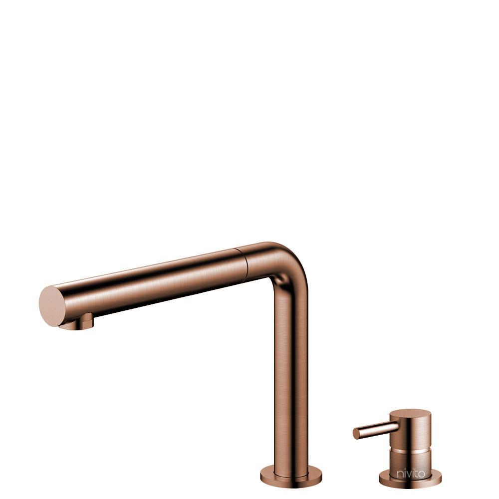 铜 厨房龙头 可拉出式软管 / 可分离式主体/管道 - Nivito RH-650-VI