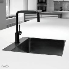 黑色 厨房水龙头 - Nivito 1-RH-320