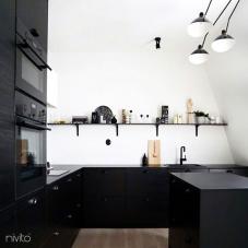 黑色 厨房水龙头 - Nivito 13-RH-320