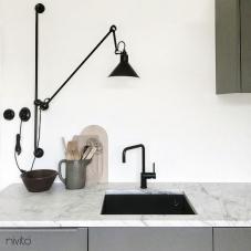 黑色 厨房水龙头 - Nivito 16-RH-320