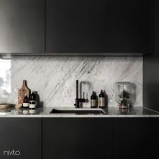 黑色 厨房水龙头 - Nivito 8-RH-320