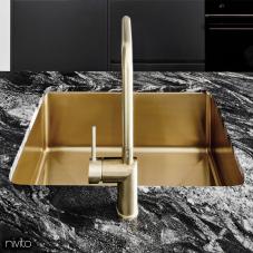 黄金/黄铜 厨房水槽 - Nivito 1-CU-500-BB
