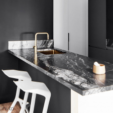 黄金/黄铜 厨房水槽 - Nivito 2-CU-500-BB