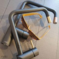 黄金/黄铜 厨房水龙头 黑色/黄金/黄铜 - Nivito 1-RH-340-BISTRO