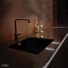 黄金/黄铜 厨房水龙头 黑色/黄金/黄铜 - Nivito 2-RH-340-BISTRO