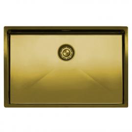 黄金/黄铜 厨房水槽 - Nivito CU-700-BB