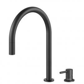 黑色 厨房龙头 可拉出式软管 / 可分离式主体/管道 - Nivito RH-120-VI