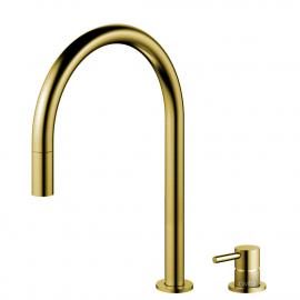 黄金/黄铜 厨房水龙头 可拉出式软管 / 可分离式主体/管道 - Nivito RH-140-VI