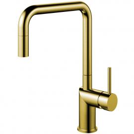 黄金/黄铜 厨房水龙头 可拉出式软管 - Nivito RH-340-EX