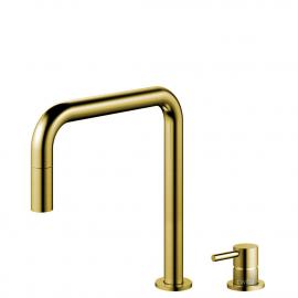 黄金/黄铜 厨房水龙头 可拉出式软管 / 可分离式主体/管道 - Nivito RH-340-VI