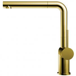 黄金/黄铜 厨房水龙头 可拉出式软管 - Nivito RH-640-EX