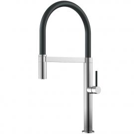 不锈钢 厨房水龙头 可拉出式软管 / 拉丝/黑色 - Nivito SH-200