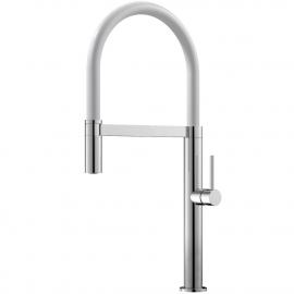 厨房水龙头 可拉出式软管 / 抛光/白色 - Nivito SH-310